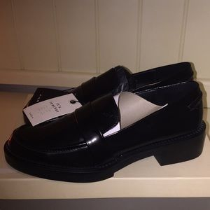 Genuine Leather Loafers Black Penny Loafers